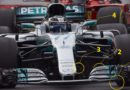 Tecnica del GP della Malesia 2017 di F1. Disamina delle ulteriori evoluzioni introdotte dal team Mercedes  all'alettone anteriore ed al diffusore.