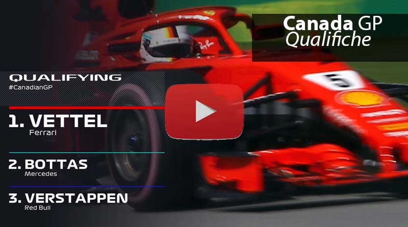 Sintesi Video Qualifiche del Canada Pole 54 per Vettel
