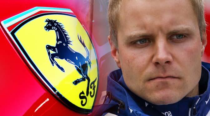 Bottas in Ferrari
