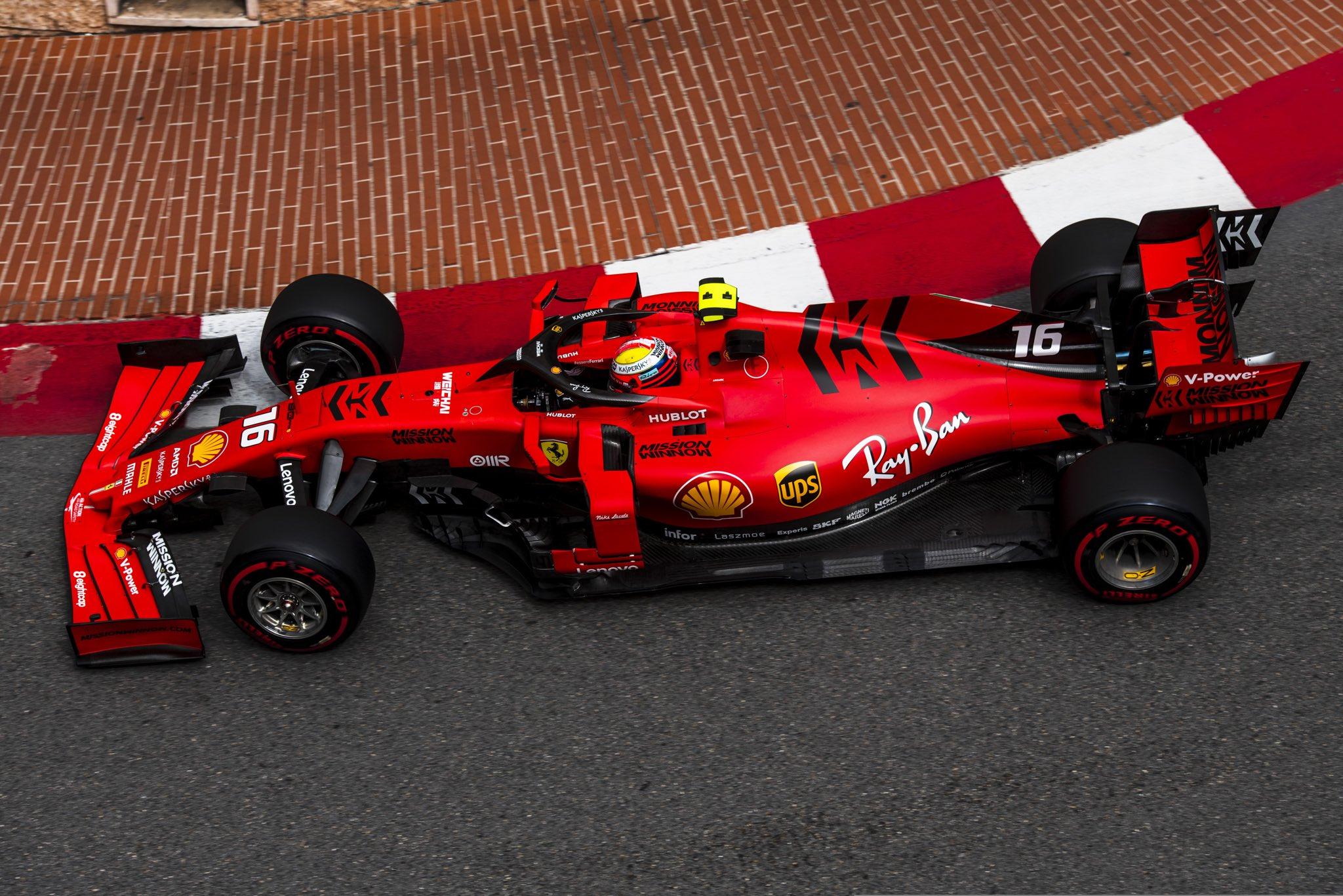 Formula 1 Notiize ferrari Leclerc Monaco