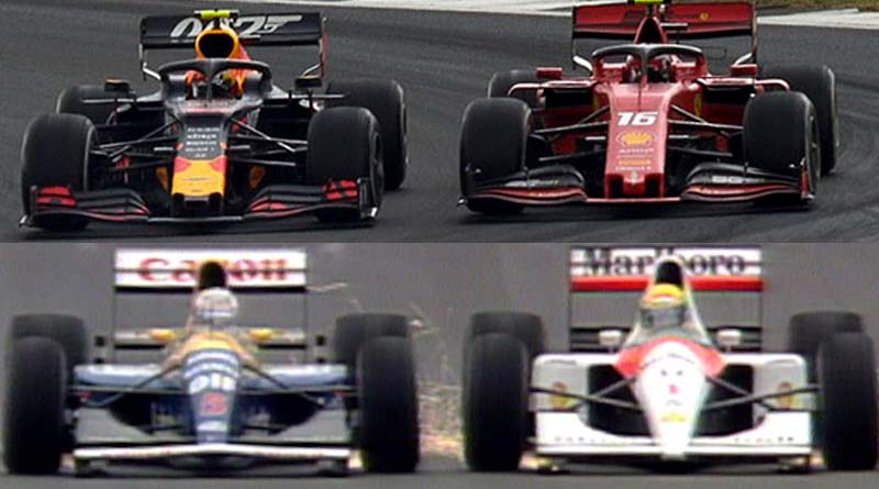 Formula 1 Silverstone duel