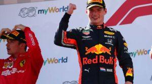 Max Verstappen podio