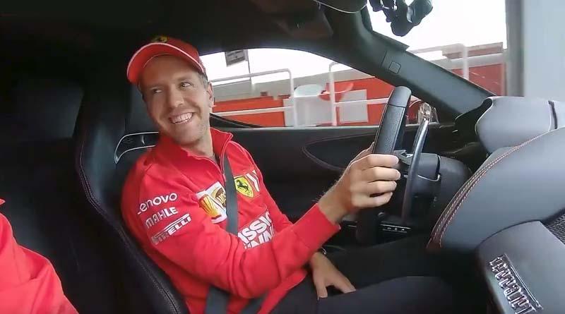 Vettel Guida la SF90 Stradale