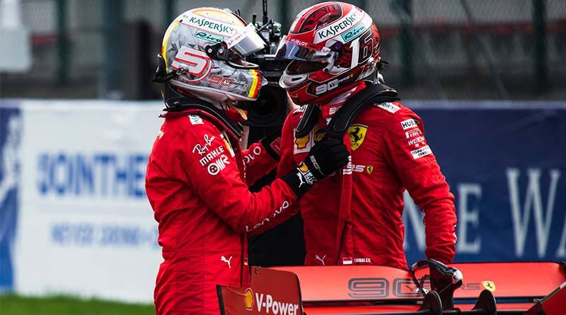 Formula 1 Ferrari Vettel Leclerc