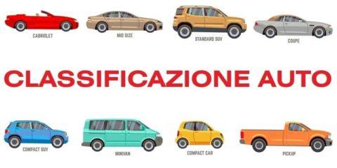 Classificazione segmento auto