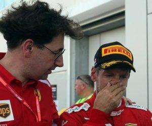 Binotto Vettel Ferrari