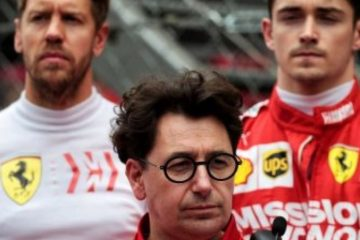 Binotto Leclerc Vettel