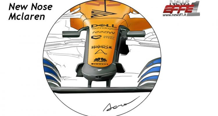 GP Toscana new nose Mclaren