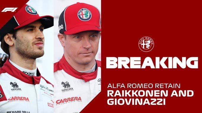 F1 Allfa Romeo Kimi Giovinazzi