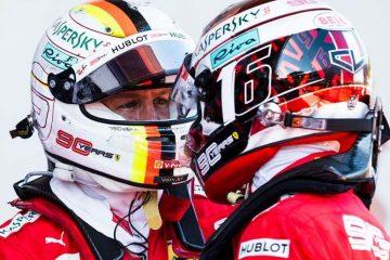 Vettel Leclerc Ferrari