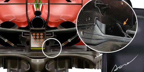 F1 Ferrari diffusore
