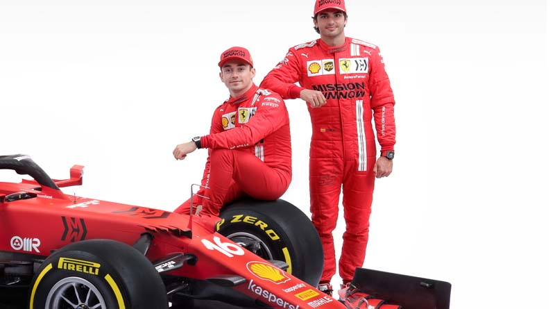 F1 Ferrari Sainz Leclerc