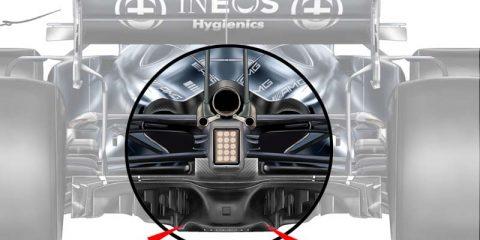 Mercedes F1 diffuser