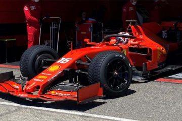 Leclerc Pirelli Ferrari