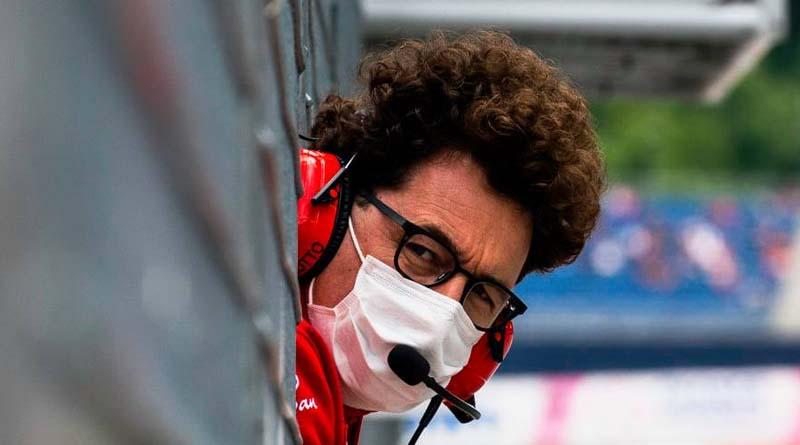 Mattia Binotto TP Ferrari F1